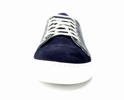 IVAN TROY Aquim Blue Handmade Men Italian Leather Casual Sneakers// Leather Shoes